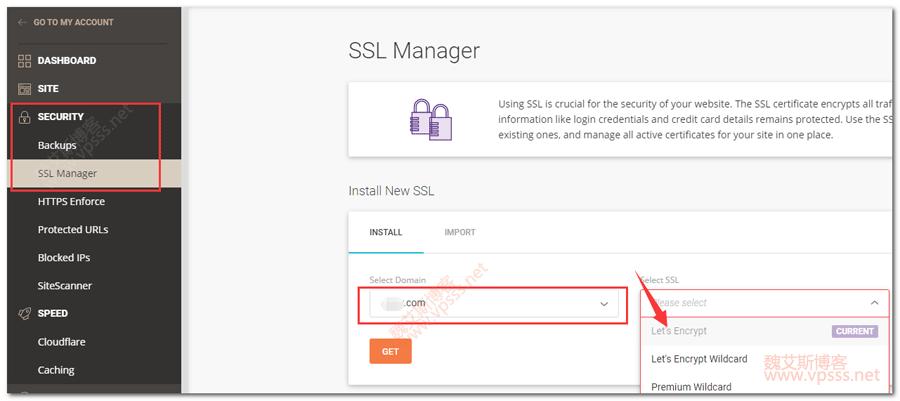 Siteground SSL Manager 添加 Lets Encrypt 证书