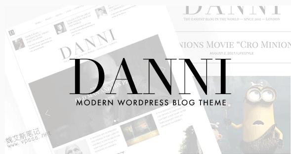 Danni极简WordPress博客主题